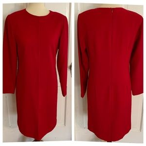 Talbots Red Wool Dress.  Size 6